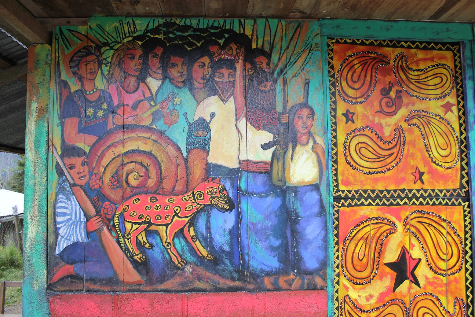 The art of rebellion part 2 chiapas enlivened learning for Mural zapatista