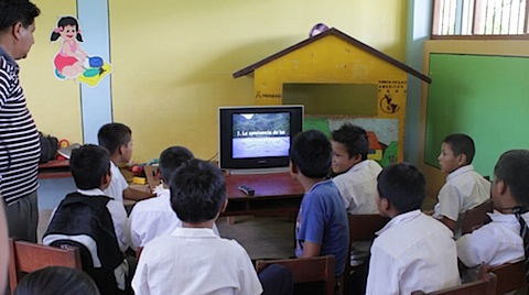 Peru - inter-cultural school kids watching video.jpg