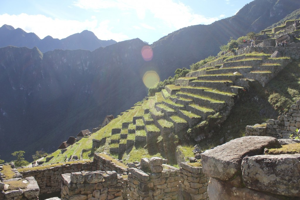 Steep terraces of Machu Picchu, photo by Udi