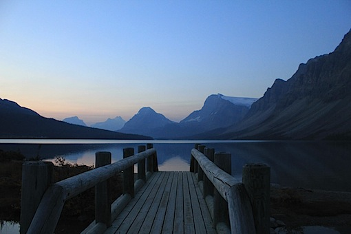 Bow Lake, Alberta, Canada (inside Banff National Park), taken by Kelly, October 2012.
