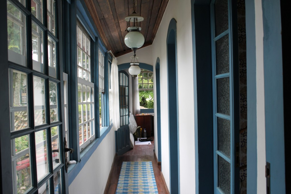 Colonial architectural splendor inside house in Paraty, photo by Kelly