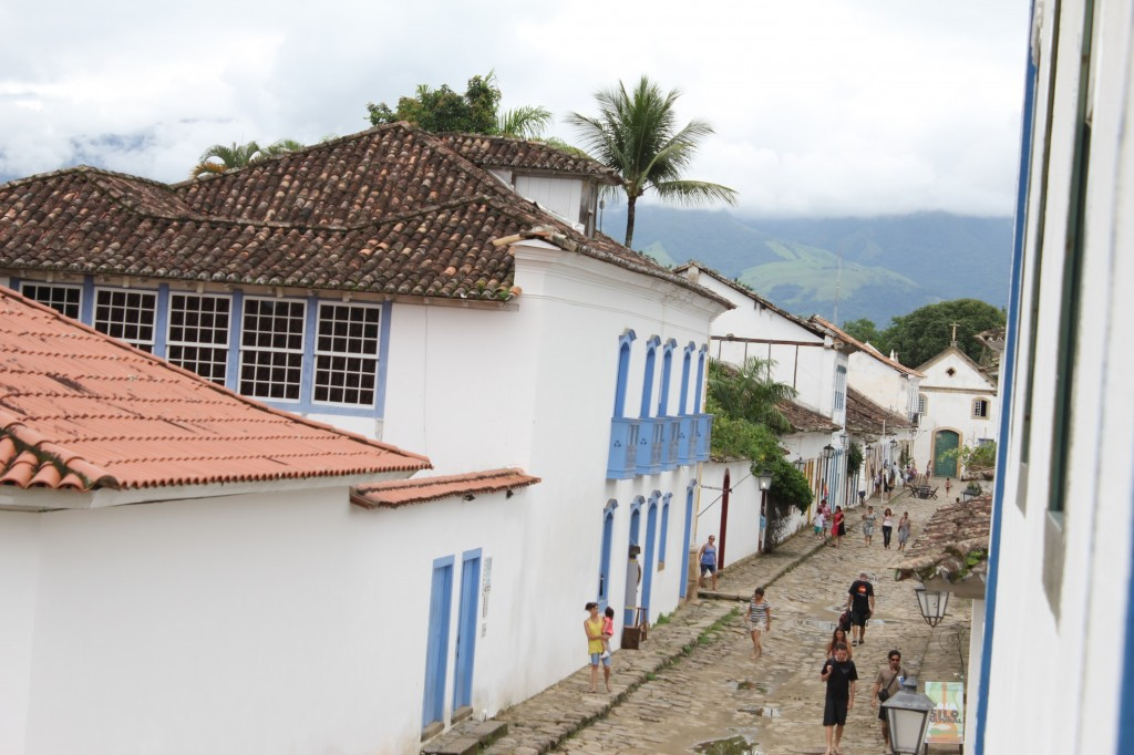 View of Paraty town from main room in house, photo by Marina
